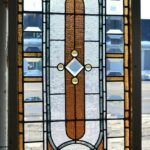 Antique-Victorian-Transom-Window-Beveled-Stained-Ripple-Glass-With-Jewels-193881562124