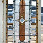 Antique-Victorian-Transom-Window-Beveled-Stained-Ripple-Glass-With-Jewels-193881562124-2