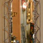 Antiqued-Silver-Gold-Wash-Distressed-Iron-Vanity-Set-Mirror-Stool-Vanity-264931816504-3