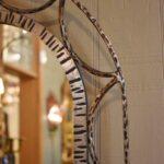 Antiqued-Silver-Gold-Wash-Distressed-Iron-Vanity-Set-Mirror-Stool-Vanity-264931816504-4