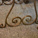 Antiqued-Silver-Gold-Wash-Distressed-Iron-Vanity-Set-Mirror-Stool-Vanity-264931816504-7
