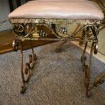Antiqued-Silver-Gold-Wash-Distressed-Iron-Vanity-Set-Mirror-Stool-Vanity-264931816504-8