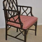 Century-Furniture-Chinese-Chippendale-Black-Laquered-Bamboo-Side-Chair-264295457904-2