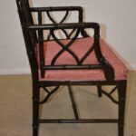 Century-Furniture-Chinese-Chippendale-Black-Laquered-Bamboo-Side-Chair-264295457904-4