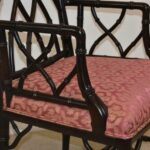 Century-Furniture-Chinese-Chippendale-Black-Laquered-Bamboo-Side-Chair-264295457904-5