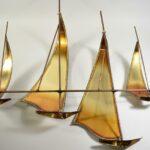 Jere-Signed-Brass-Sailboat-Regatta-Metal-Artwork-Sculpture-Mid-Century-194244297104-4