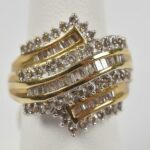 Ladies-10K-Yellow-Gold-and-Diamond-Ring-125-Total-Carat-Weight-Size-6-193659783634-2