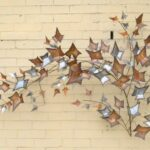 MID-CENTURY-MODERN-CURTIS-JERRE-AUTUMN-LEAVES-HANGING-WALL-SCULPTURE-1979-262001605594