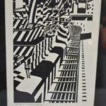 MODERN-ART-DECO-ERA-EM-WASHINGTON-WOODBLOCK-PRINT-SHIP-BOLD-GEOMETRIC1927-264736377994