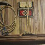 Original-Western-Motif-Oil-Painting-On-Canvas-By-Artist-Valter-Morais-42-x-102-193605005674-2