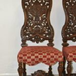 Pair-Vintage-Edwardian-Style-High-Back-Carved-Side-Chairs-194249155444-2
