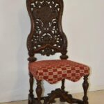 Pair-Vintage-Edwardian-Style-High-Back-Carved-Side-Chairs-194249155444-7