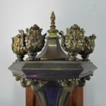 Pair-of-Gothic-Revival-Torch-Style-Brass-Wall-Sconces-193337214434-10