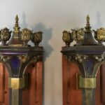 Pair-of-Gothic-Revival-Torch-Style-Brass-Wall-Sconces-193337214434-2