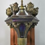 Pair-of-Gothic-Revival-Torch-Style-Brass-Wall-Sconces-193337214434-6