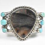 Sterling-Silver-Turquoise-and-Jasper-Cuff-Bracelet-Large-Jasper-Center-Stone-264931710374-2