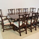 Ten-Mahogany-Chippendale-Dining-Chairs-Two-Arm-Chairs-Upholstered-Kindel-192746376394-11