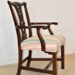 Ten-Mahogany-Chippendale-Dining-Chairs-Two-Arm-Chairs-Upholstered-Kindel-192746376394-3