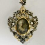 Victorian-French-Miniature-Portrait-Silver-Gold-Wash-Brooch-Pin-Rose-Cut-Dia-193025765374