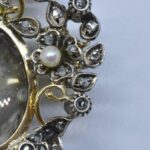 Victorian-French-Miniature-Portrait-Silver-Gold-Wash-Brooch-Pin-Rose-Cut-Dia-193025765374-3