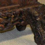 Vintage-Carved-Asian-Fireplace-Screen-With-Dragons-Koi-Fish-193613477554-2