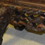Vintage-Carved-Asian-Fireplace-Screen-With-Dragons-Koi-Fish-193613477554-3