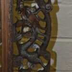 Vintage-Carved-Asian-Fireplace-Screen-With-Dragons-Koi-Fish-193613477554-5