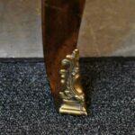 Vintage-Henredon-Lighted-Curio-Cabinet-Bronze-Mounts-Glass-Shelves-Mirrored-Back-265207984304-5