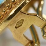 14k-Yellow-Gold-Turquoise-Omega-Back-Pierced-Earrings-265076611845-3