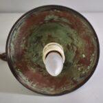 Antique-Handel-Style-Arts-And-Crafts-Hall-Porch-Pendant-Glue-Chip-GlassCopper-263375410195-7