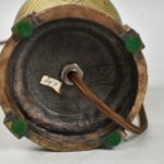 Antique-Iridized-Art-Glass-Table-Lamp-King-Tut-Pattern-193605184275-6
