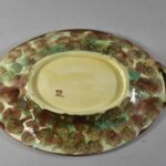 Antique-Majolica-Wild-Rose-And-Rope-Oval-Platter-Cobalt-Turquoise-Circa-1800s-263537338915-5