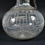 Antique-Silver-Plate-Cut-Glass-PitcherCarafeClaret-Greek-Key-Pattern-265076313695-3