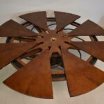 Baker-Stately-Homes-Mahogany-Capstan-Dining-Table-Spins-Open-70-87-Dia-193871629375-2