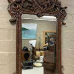 Carved-Walnut-Mirror-Swan-Goose-Made-In-Spain-194014468135
