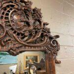 Carved-Walnut-Mirror-Swan-Goose-Made-In-Spain-194014468135-4