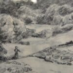 George-Jensen-Original-Pencil-On-Paper-Drawing-Landscape-Country-Road-With-Trees-262703395885-3