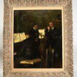 Impressionist-Painting-Three-Musicians-titled-Trio-by-Marta-Sappel-Circa-1944-265161222195