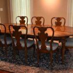 Italian-Georgian-Style-Dining-Room-Set-Table-Eight-Chairs-Ball-Claw-Feet-193659604685