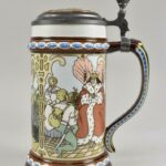 Mettlach-The-Twelve-Dancing-Princesses-Germany-Pottery-Stein-1980-265011854265-3