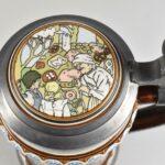 Mettlach-The-Twelve-Dancing-Princesses-Germany-Pottery-Stein-1980-265011854265-4