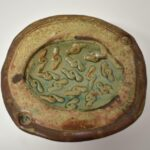 Michigan-Artist-John-Glick-Pottery-Green-Rust-Dish-264896972145-2