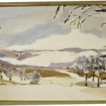 OVERSIZED-IMPRESSIONIST-WINTER-LANDSCAPE-OIL-ON-CANVAS-IN-FRAME-SIGNED-CBOWERS-192672382125
