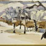 OVERSIZED-IMPRESSIONIST-WINTER-LANDSCAPE-OIL-ON-CANVAS-IN-FRAME-SIGNED-CBOWERS-192672382125-2
