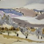 OVERSIZED-IMPRESSIONIST-WINTER-LANDSCAPE-OIL-ON-CANVAS-IN-FRAME-SIGNED-CBOWERS-192672382125-3