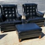 Pair-Heritage-Leather-Chairs-With-One-Ottoman-Brass-Nail-Head-Trim-265121569615