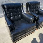 Pair-Heritage-Leather-Chairs-With-One-Ottoman-Brass-Nail-Head-Trim-265121569615-2