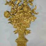 Pair-of-French-Bronze-Gold-Dore-Mounts-with-a-Floral-Basket-Design-264985154615-3