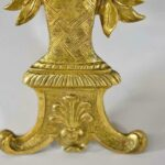 Pair-of-French-Bronze-Gold-Dore-Mounts-with-a-Floral-Basket-Design-264985154615-4