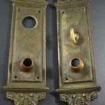 Pair-of-Heavy-Victorian-Antique-Yale-and-Towne-Cast-Brass-Entry-Door-Plates-14-192843120635